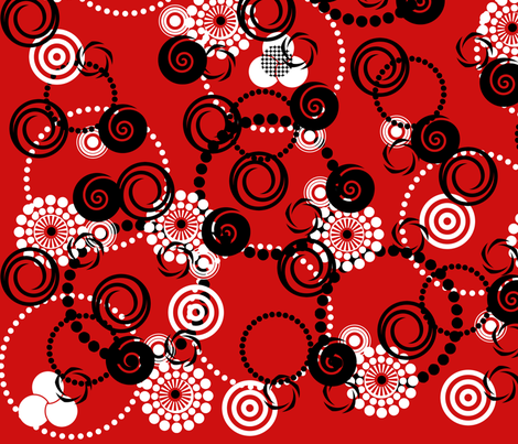 Circles Bubbles Concentric Rings fabric by dancingwithfabric on Spoonflower - custom fabric