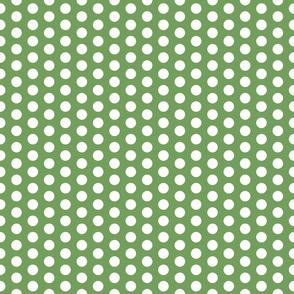 Polka Dot in Stem Green