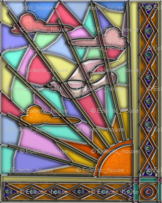 Dawn Dove Stained Glass