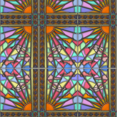 Dawn Dove Stained Glass fabric by eclectic_house on Spoonflower - custom fabric