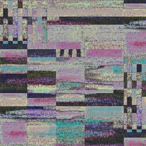 (NOW LARGER) Muted pink lines of chalk by Su_G