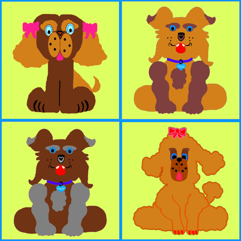 DivaPoodle2RedoneW-TankPuppykins fabric by grannynan on Spoonflower - custom fabric