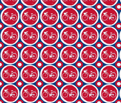 French Retro Bike fabric by pic on Spoonflower - custom fabric