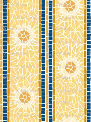 "Mosaic Starburst Stripe -- 2""  ©2012 by Jane Walker"