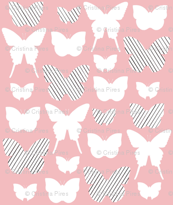 pink stripe butterfly