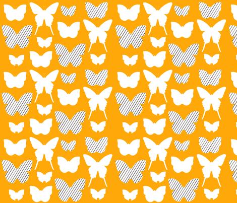 butterfly1_17jan2012galerystripesw_150dpiORANGE fabric by cristinapires on Spoonflower - custom fabric
