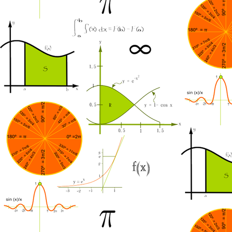 Math-ee Design fabric by ninjaauntsdesigns on Spoonflower - custom fabric