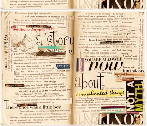 A Story about Complicated Things fabric by pinkchamplain on Spoonflower - custom fabric