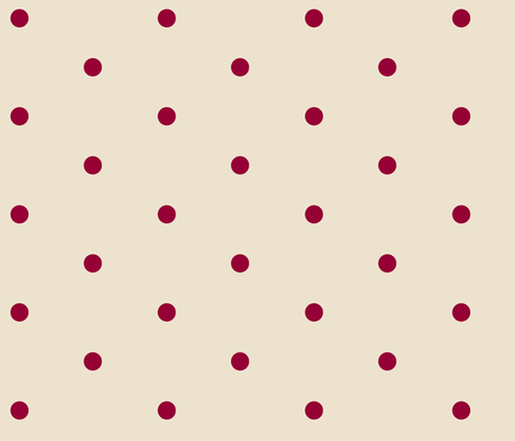 Wider Berry Dots on Cream fabric by jennyf on Spoonflower - custom fabric