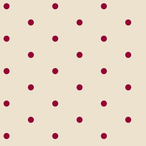 Wider Berry Dots on Cream