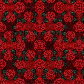 Red Wine Rose Tapestry