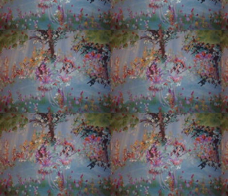 Wild flower fairies fabric by myartself on Spoonflower - custom fabric