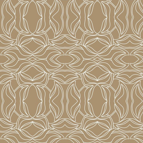 deco leaves wht/brown