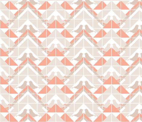 Geometrics/Birds No.10 fabric by lottiefrank on Spoonflower - custom fabric