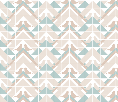 Geometrics/Birds No.11 fabric by lottiefrank on Spoonflower - custom fabric