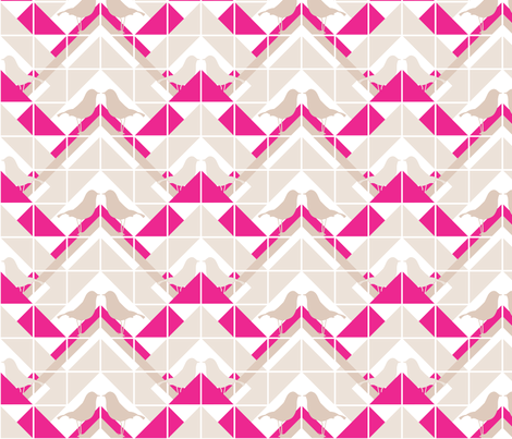 Geometrics/Birds No.12 fabric by lottiefrank on Spoonflower - custom fabric