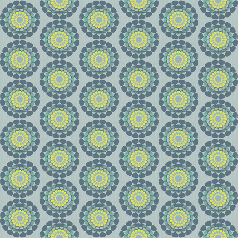 vintage-circle-greengrey fabric by lilliblomma on Spoonflower - custom fabric