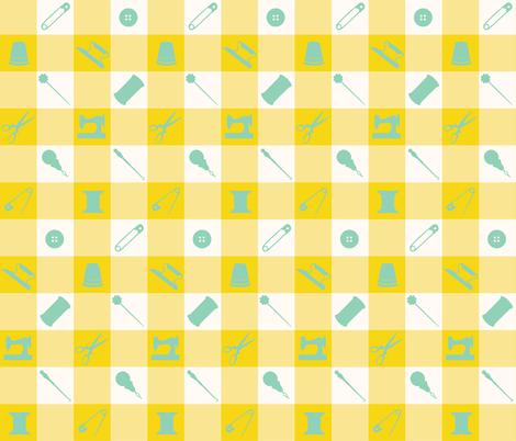 PLAID_SEWING_GREEN fabric by natasha_k_ on Spoonflower - custom fabric