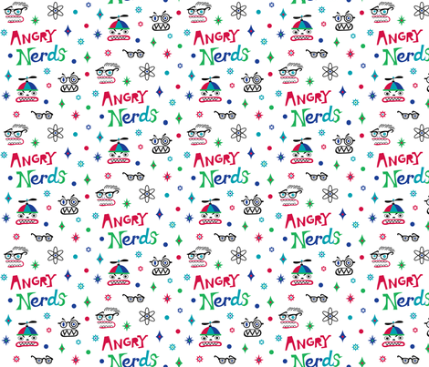 Angry Nerds fabric by andibird on Spoonflower - custom fabric