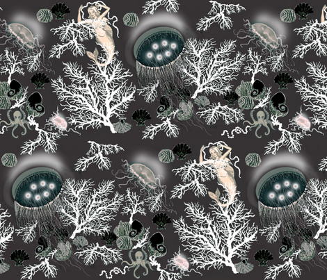 amazing jellies / grey fabric by paragonstudios on Spoonflower - custom fabric