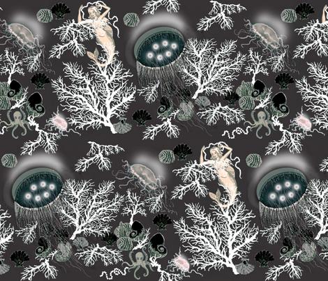 amazing jellies / grey fabric by paragonstudios on Spoonflower - custom fabric