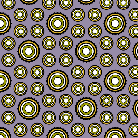 DOTS 250 PERIWINKLE fabric by glimmericks on Spoonflower - custom fabric