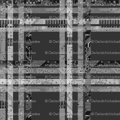 Circuit Plaid - Grays