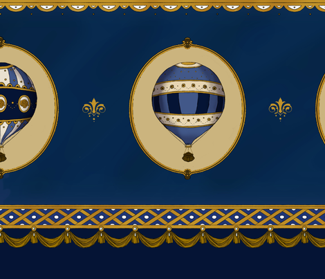 Imperial Balloons Navy, Skirt set fabric by abracadabra on Spoonflower - custom fabric