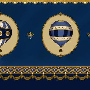 Imperial Balloons Navy, Skirt set