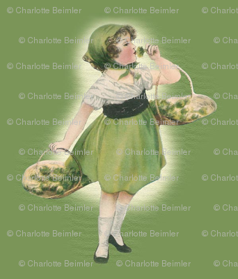 Girl With Green Roses