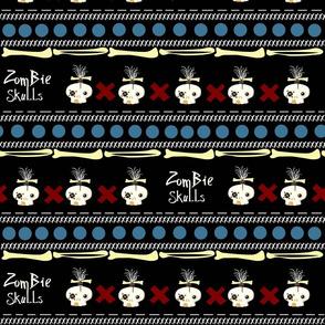 zombie skulls / small