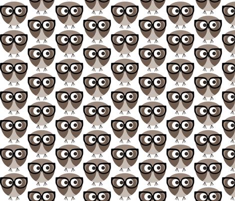 Geek Owl fabric by natitys on Spoonflower - custom fabric