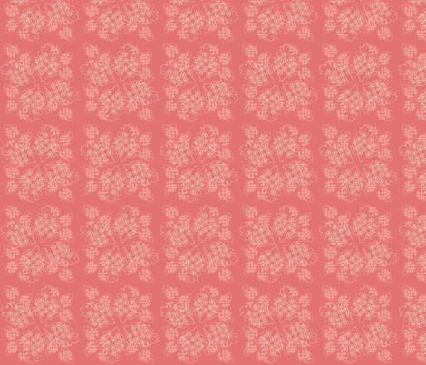 corral leaves fabric by michellesmith on Spoonflower - custom fabric