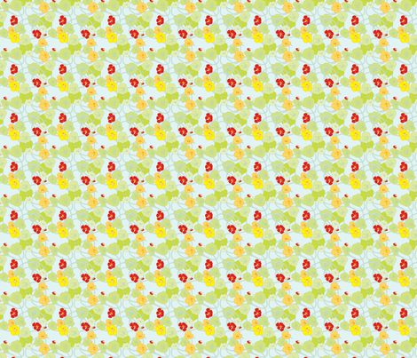 Nasturtiums Fresh Ditsy Petite fabric by anntuck on Spoonflower - custom fabric