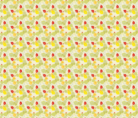 Nasturtiums Ditsy Petite fabric by anntuck on Spoonflower - custom fabric