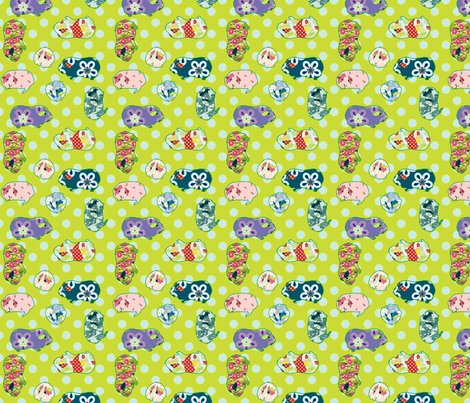 Guinnea_pig_pattern_all_over_150dpi_quilting_scale_merged_green_shop_preview