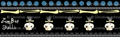 zombie skulls / stripe