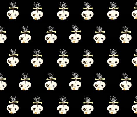 zombie skull / brick fabric by paragonstudios on Spoonflower - custom fabric