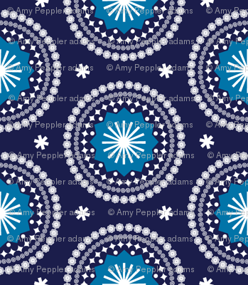 Bandana* (Jackie Blue) || scarf handkerchief stars starburst circles flowers fireworks geometric outer space galaxy mandala
