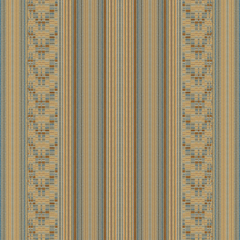 Mid Century Stripe and Weave fabric by joanmclemore on Spoonflower - custom fabric