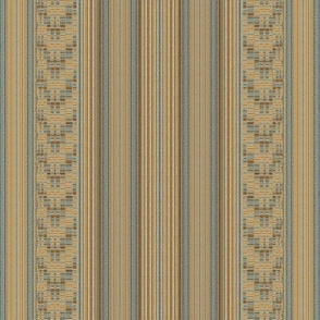 Mid Century Stripe and Weave