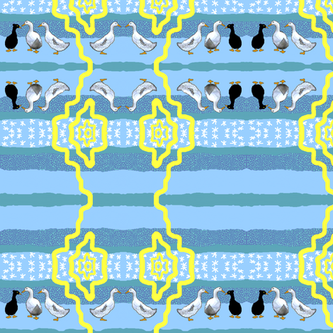 I Love Ducks! fabric by robin_rice on Spoonflower - custom fabric