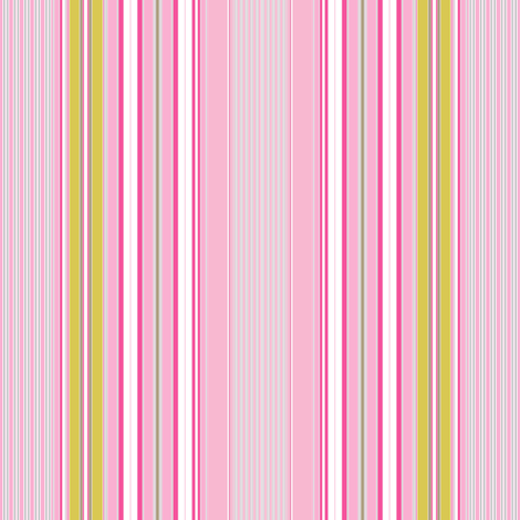 Farmhouse Stripe Pink  fabric by joanmclemore on Spoonflower - custom fabric