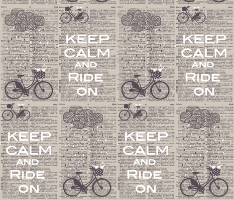 dictionary bicycle fabric by katarina on Spoonflower - custom fabric