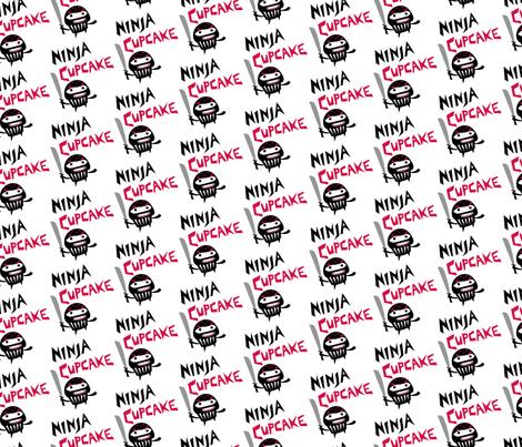 Ninja Cupcakes fabric by andibird on Spoonflower - custom fabric
