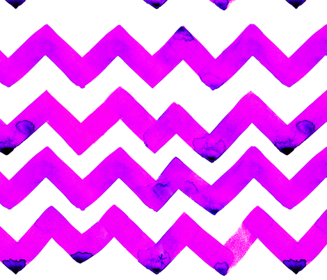 cestlaviv_NEWzigzagzPINKBLUE fabric by cest_la_viv on Spoonflower - custom fabric