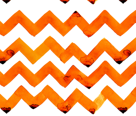 cestlaviv_NEWzigzagz ORANGE fabric by cest_la_viv on Spoonflower - custom fabric