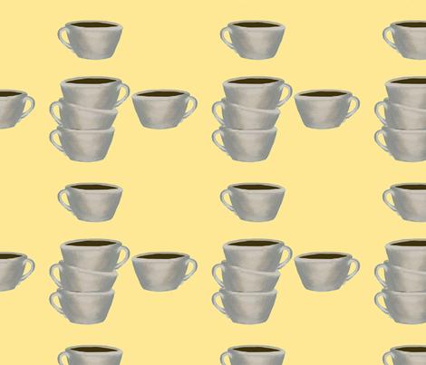 A cup of Jo yellow fabric by karenharveycox on Spoonflower - custom fabric