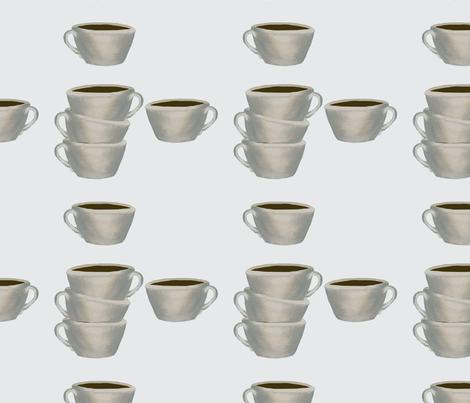 Cups of Jo, gray fabric by karenharveycox on Spoonflower - custom fabric