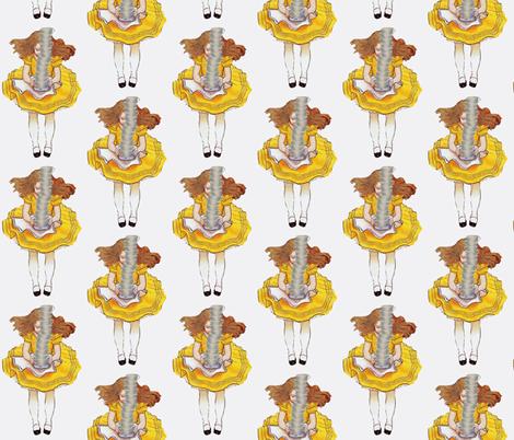 Alice on her way to tea fabric by karenharveycox on Spoonflower - custom fabric